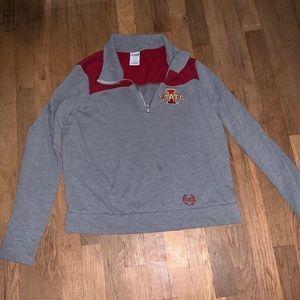 PINK Iowa State half zip sweatshirt